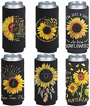 Pizding Standard Can Cooler 6 Pack, Trendy Yellow