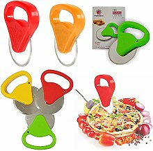 Pizza Cutter Stainless Steel Heavy Duty Hand HELD