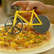 Pizza Cutter, Yellow Bicycle Pizza Cutter Wheels