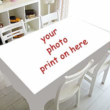 PJCNEW Personalized Photo Custom Table Cloth