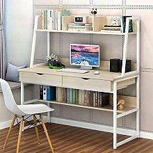 PJLTOP Ladder Desk,Computer Desk with Bookshelf