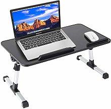 PJLTOP Laptop Desk for Bed,Adjustable Lap Bed Tray