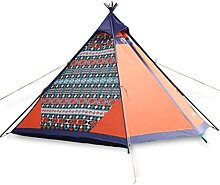 PJPPJH 4 Man Tent, Teepee -Tent With Porch Camping