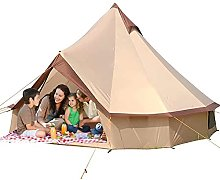 PJPPJH Outdoor Bell Tents 3-10 Persons Large