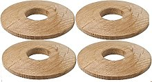 PK of 4 X O' SO EEZY Solid Oak Pipe Surround