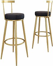 Pkfinrd Modern Bar Chair with Backrest and