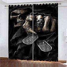 PKTMK Blackout Curtains Grim reaper Blackout