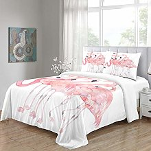PKUOUFG Double Bedding Duvet Set W87xL90inch Pink