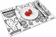 Place Mats Handmade Placemats Cactus and Succulent