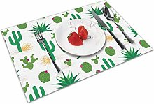 Place Mats Handmade Placemats Cactus Pattern Table