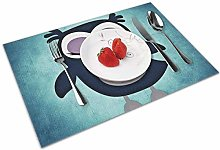 Place Mats Handmade Placemats Cute Animated Owl