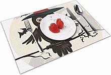 Place Mats Handmade Placemats Halloween Owl Table