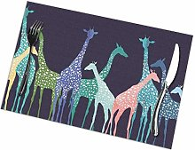 Place Mats Placemats Giraffe Wallpapers 1 Table