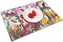 Place Mats Placemats Pressed Flower Art Table Mat
