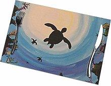 Place Mats Placemats Sea Turtles Table Mat 30X45CM