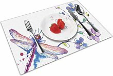 Place Mats Table Mat Dragonfly Watercolor Bug