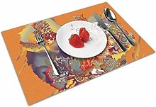 Place Mats Table Mat Flower and Fruit Mountain