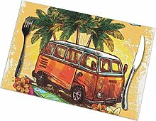Place Mats Table Mat Surf Hippie Classic Old Bus