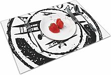 Place Mats Table Mat Vintage Airplane Grunge Style