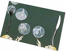 Placemat Art Design Bubbles Placemats Table Mats