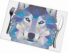 Placemat Blue Wolf 2 Placemats Table Mats Spring