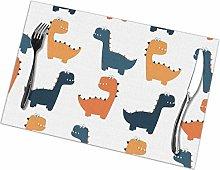 Placemat Cartoon Dinosaur Placemats Table Mats