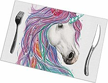 Placemat Colorful Feather Placemats Table Mats