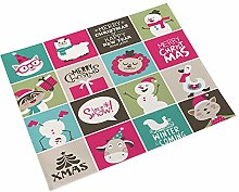 Placemat, Cotton and Linen Print Pattern Christmas