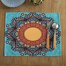 Placemat Cotton Linen Ethnic Style Western