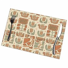 Placemat Ethnic Flowers and Leafs Placemats Table