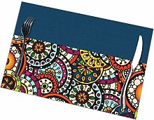 Placemat Flower Printing 7 Placemats Table Mats