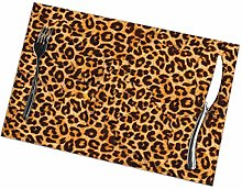 Placemat Leopard Print Placemats Table Mats Spring