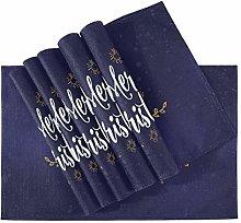 Placemat Merry Christmas Text Design Logo,heat