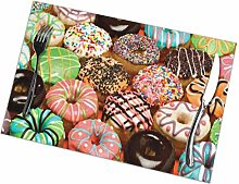 Placemat Mini Colored Donuts Placemats Table Mats