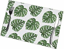 Placemat Palm Leaves Placemats Table Mats Spring