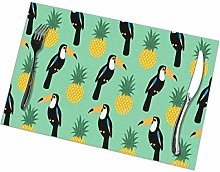 Placemat Toucans and Pineapples Placemats Table