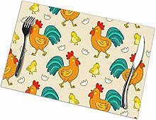 Placemat, Washable Place Mats, Chicken Non-Slip