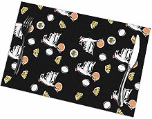 Placemat White Crane 2 Placemats Table Mats Spring