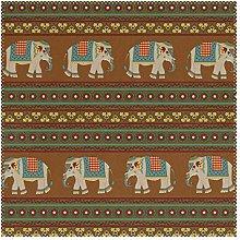 Placemats Art Ethnic Animal Elephant Tribal Stripe
