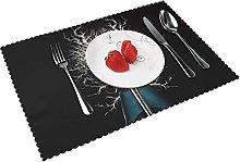 Placemats Curse-d Table Mat Washable Reusable