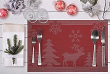 Placemats for Christmas Dining, Set of 6