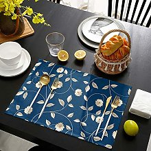 Placemats for Dining Table Set of 4 Leaf Rattan