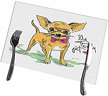 Placemats for Dining Table Set of 6 Little Cute