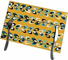 Placemats for Dining Table Set of 6 Midcentury