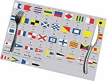 Placemats International Maritime Signal Nautical