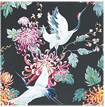 Placemats Japanese Style Crane With Flower 12x12