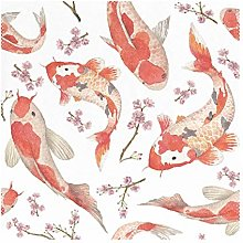 Placemats Japanese Style Fish Carp 12x12 inch one