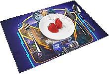Placemats Onwar-d Table Mat Washable Reusable