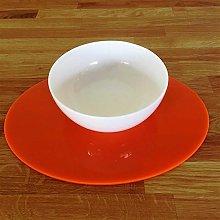 Placemats - Oval - Orange - 4 Set - Large