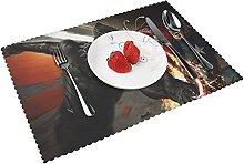 Placemats Panthe-r Table Mat Washable Reusable